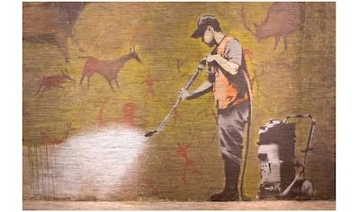 Art & Pleasure Metallbild »Cleanmaster«, Tiere-Menschen kaufen
