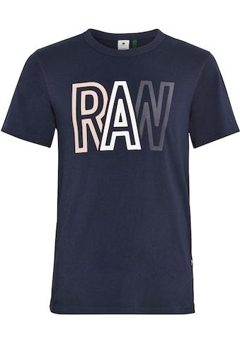 G-Star RAW Rundhalsshirt »Raw r T-Shirt« kaufen
