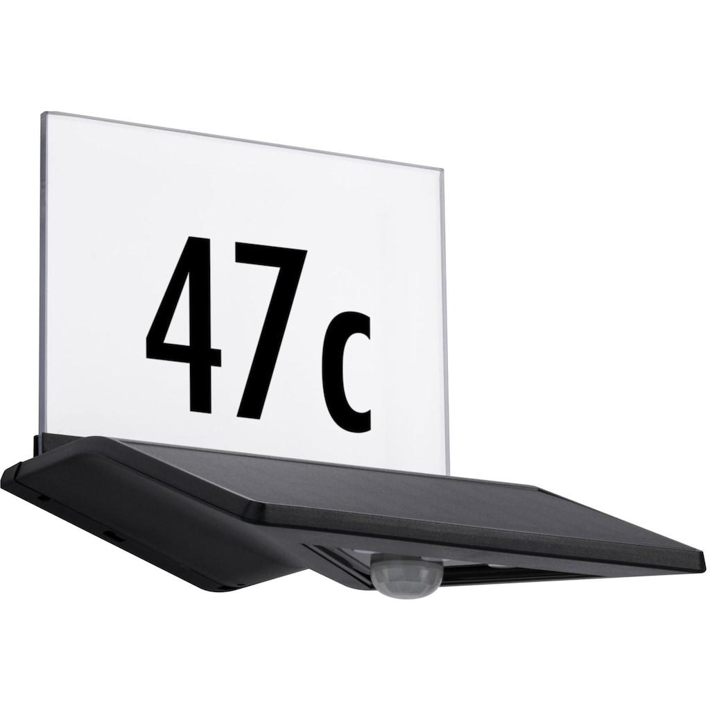 Paulmann LED Außen-Wandleuchte »Yoko«, LED-Board, 1 St., Warmweiß, Solar Hausnummernleuchte, mit Bewegungsmelder