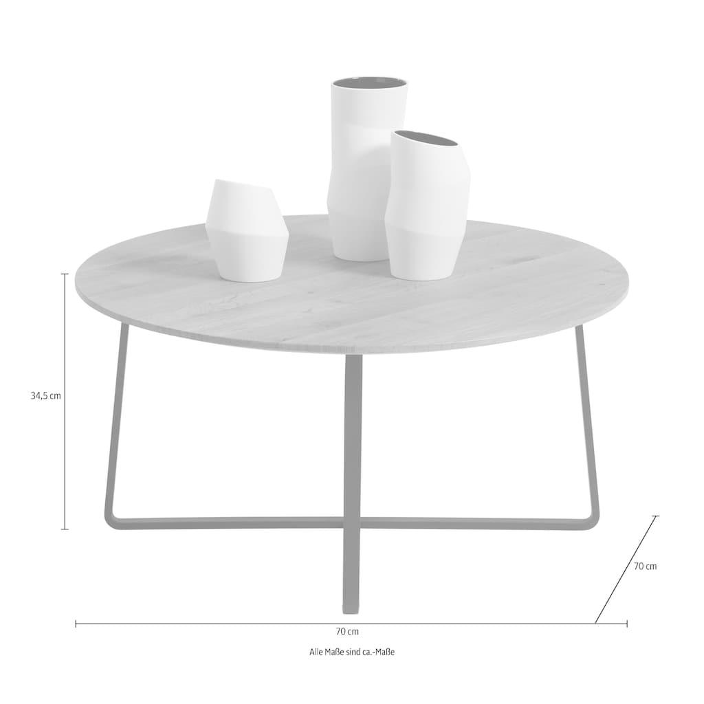SCHÖNER WOHNEN-Kollektion Couchtisch »YORIS«, mit Metallgestell, Durchmesser 70 cm