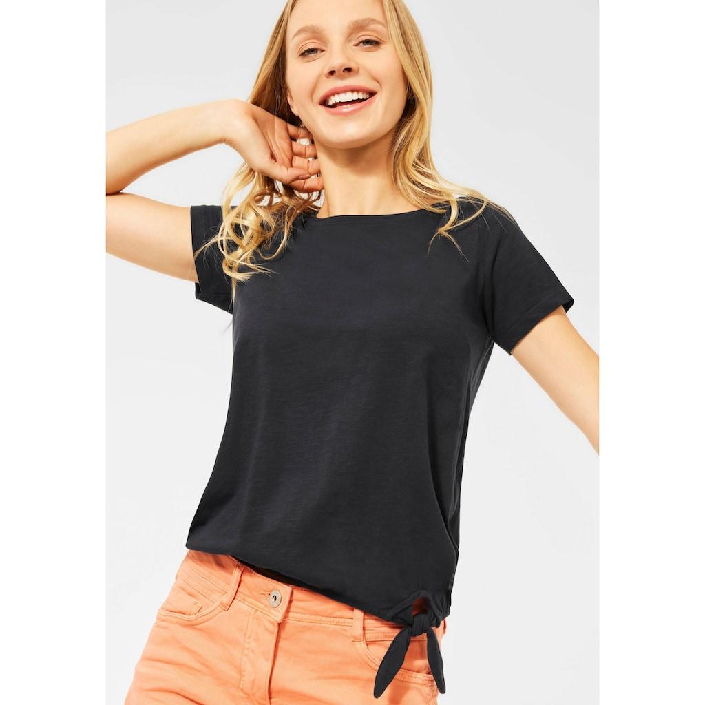 Cecil T-Shirt, mit angeschnittenen, kurzen Ärmeln