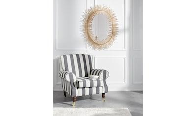Guido Maria Kretschmer Home&Living Sessel »Rennes«, in Samtoptik oder Baumwoll-Mix kaufen