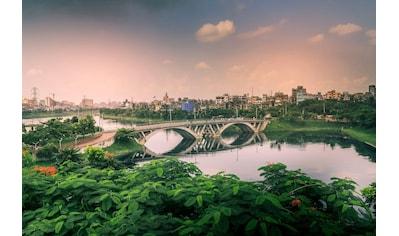 queence Acrylglasbild »Brücke« kaufen