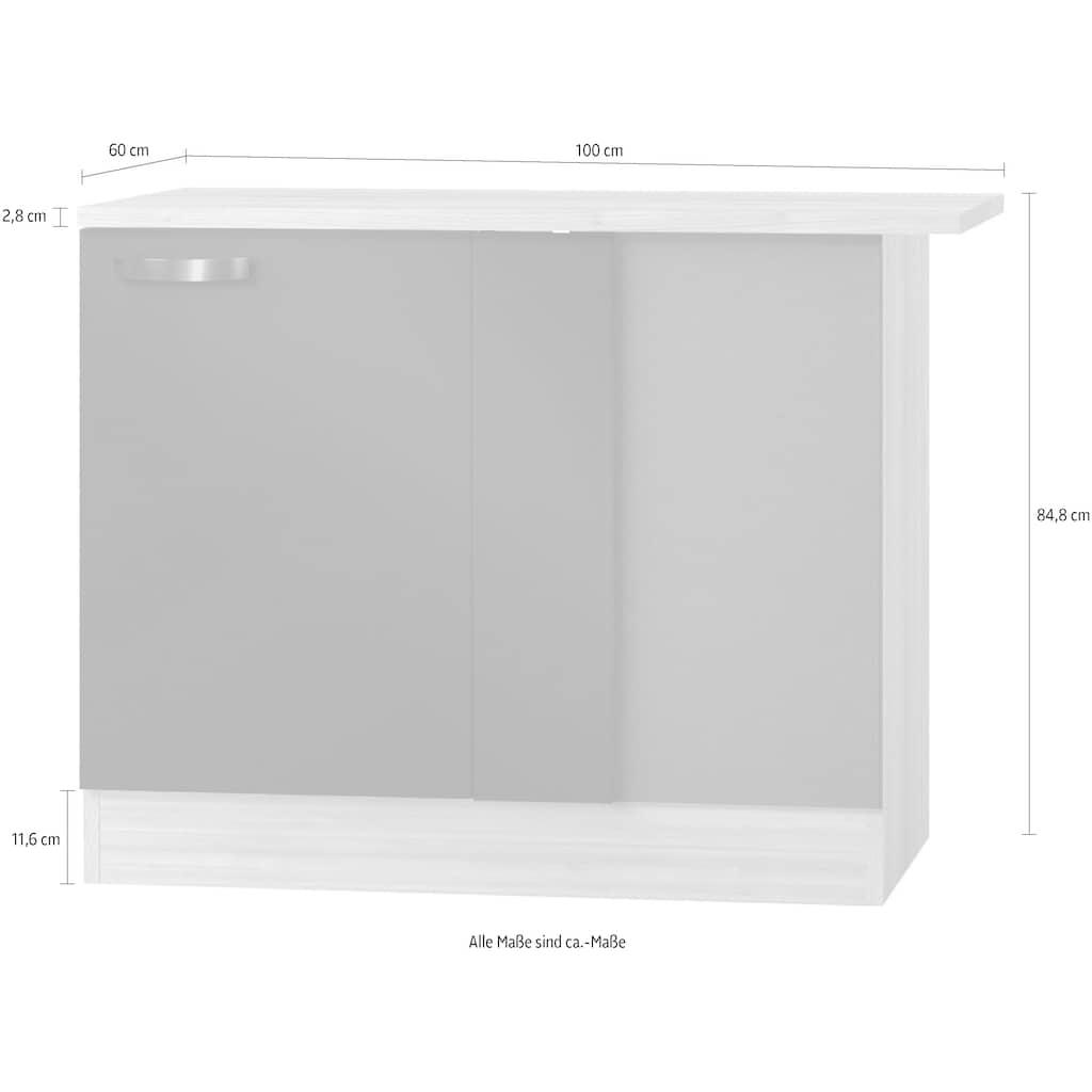 OPTIFIT Eckunterschrank »Faro«, mit Metallgriff, Breite 100 cm
