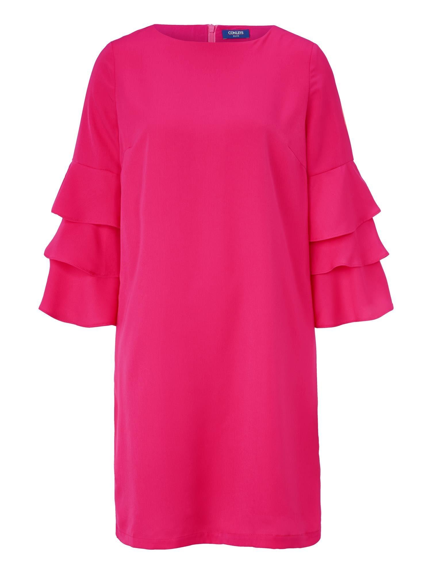 Conleys Blue Kleid mit Volantärmeln