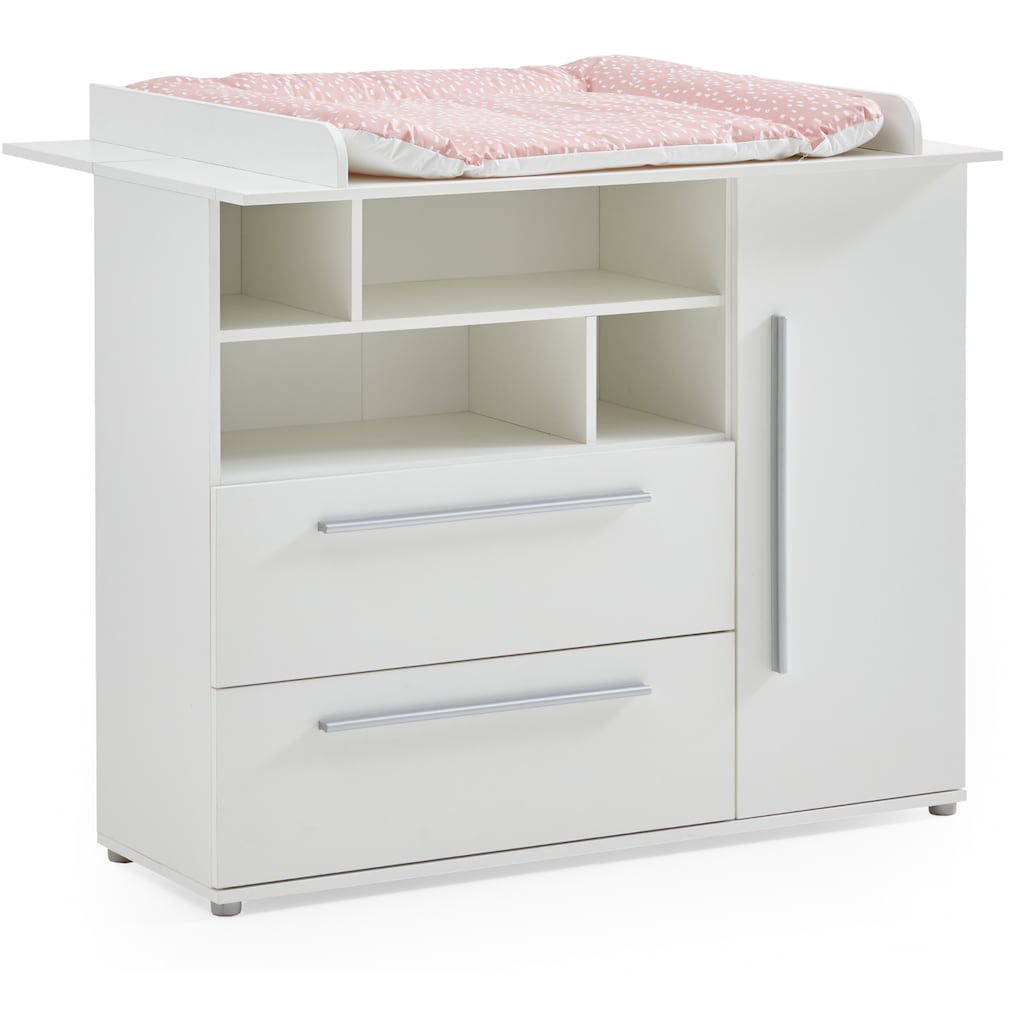 arthur berndt Babyzimmer-Komplettset »Romy«, (Set, 4 St.), Made in Germany; mit Kinderbett, Regal, Schrank und Wickelkommode