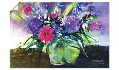Artland Wandbild »Blumenstrauß mit Palmenblatt«, Blumen, (1 St.), in vielen Größen &... kaufen