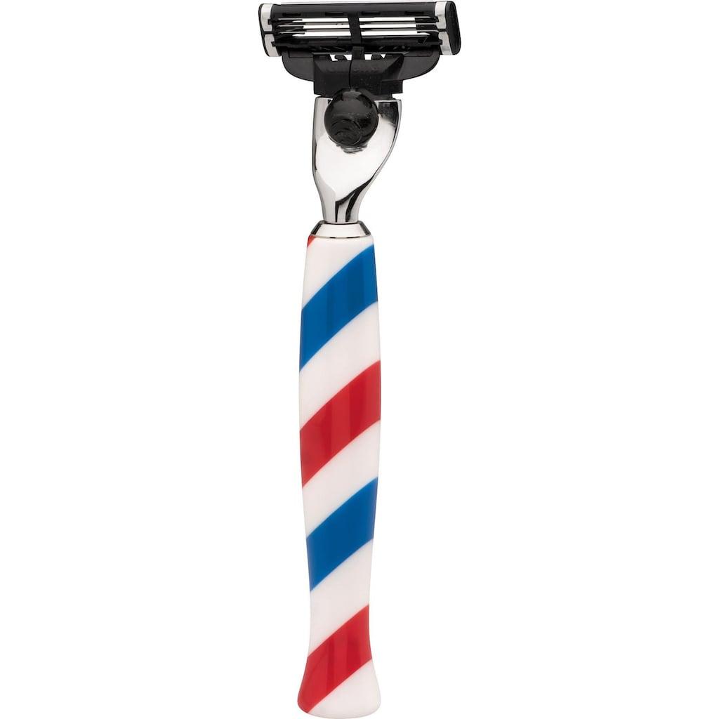 ERBE Nassrasierer »Barber«, Barbershop Design, Gillette®Mach3-Klinge