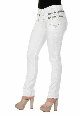 Cipo & Baxx Slim-fit-Jeans, mit modischem Dreifach-Bund in Straight Fit kaufen