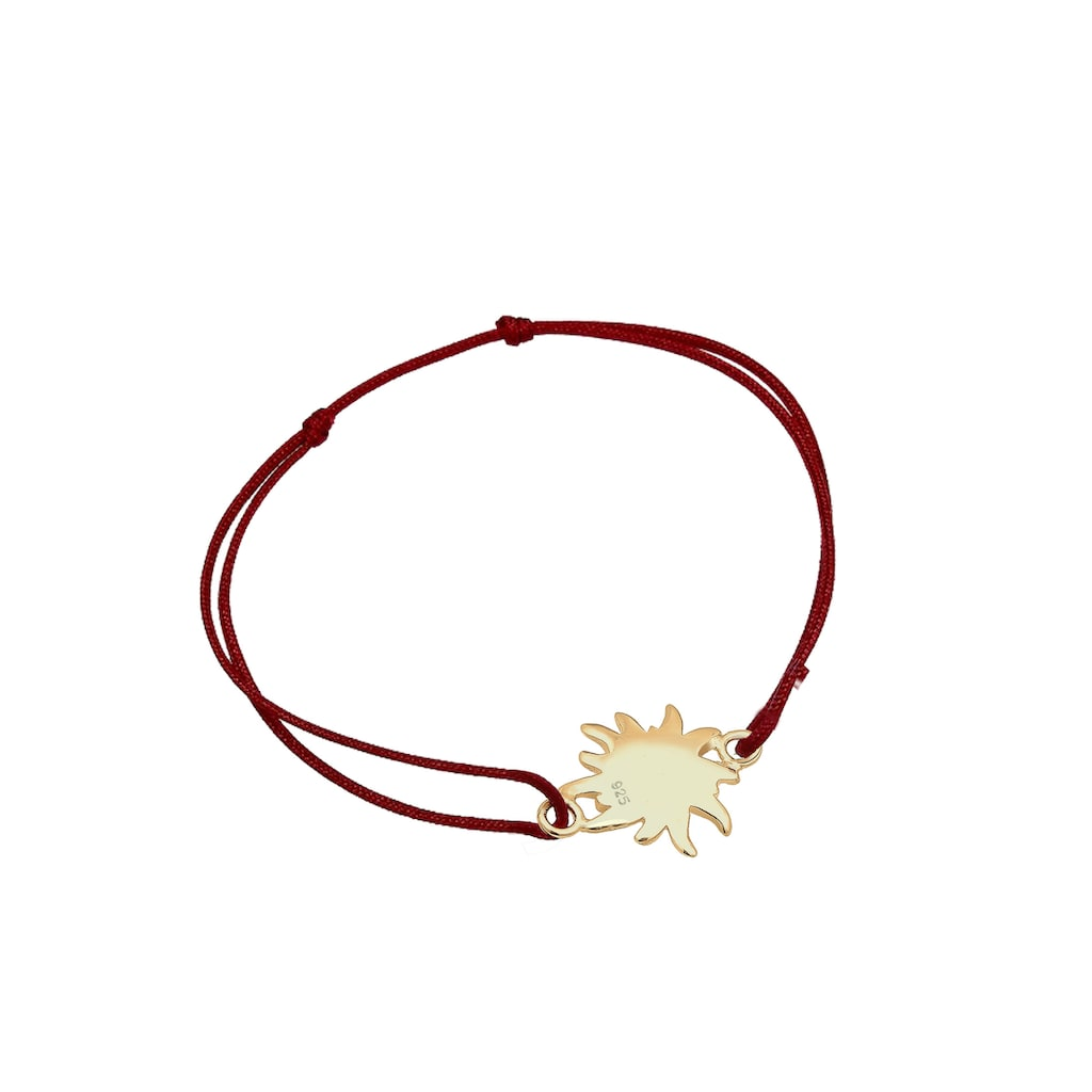 Elli Armband »Edelweiss Blume Wiesn Trachten Nylon 925 Silber«