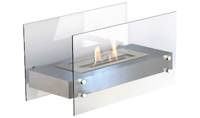 GLOW FIRE Echtfeuer-Dekokamin »Falun silber« kaufen