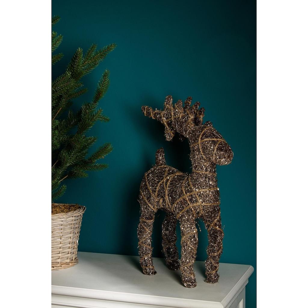 Weihnachtsfigur, LED Rentier