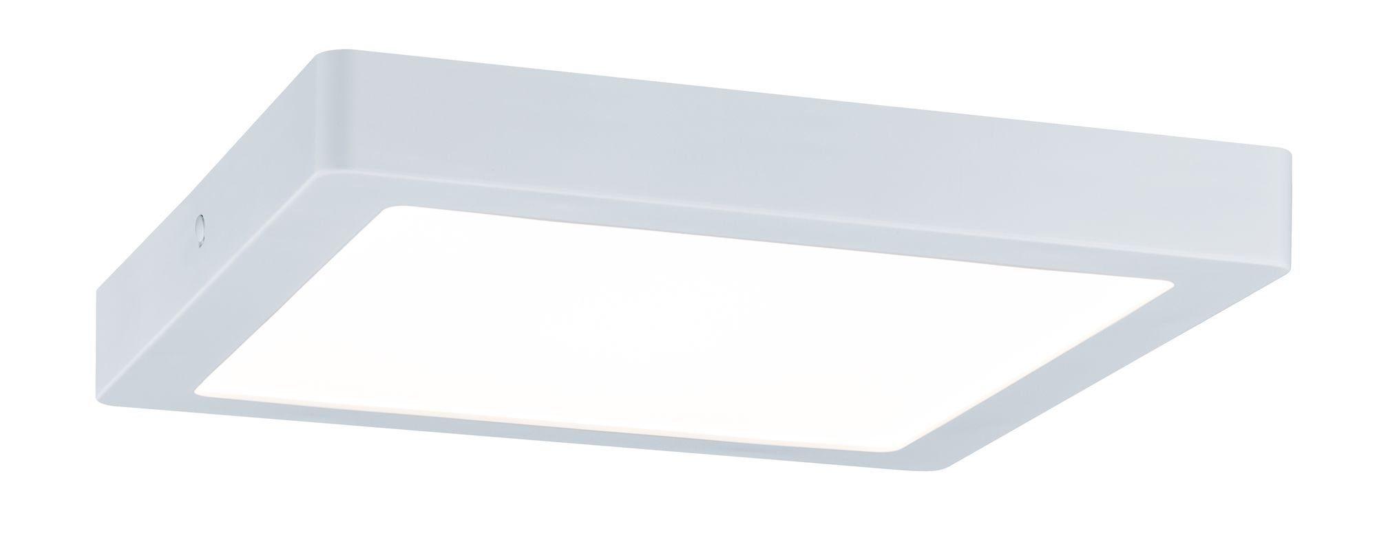 Paulmann LED Deckenleuchte Abia Panel eckig 22W Weiß Kunststoff, 1 St., Warmweiß