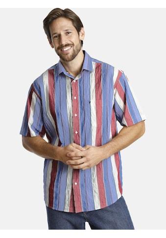 Jan Vanderstorm Kurzarmhemd »GERMO«, aus bügelfreiem Seersucker kaufen