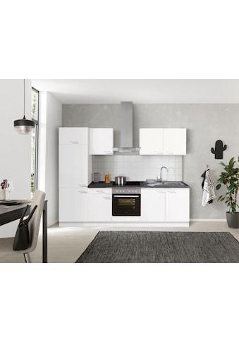 OPTIFIT Küchenzeile »Iver«, 270 cm breit, inkl. Elektrogeräte der Marke HANSEATIC, wahlweise mit oder ohne vollintegrierbaren Geschirrspüler, extra kurze Lieferzeit kaufen