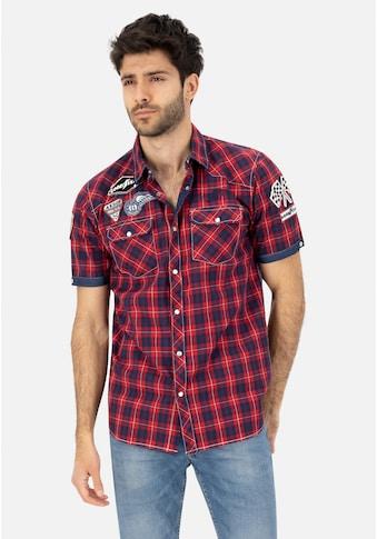 Goodyear Kurzarmhemd, im Karo-Design kaufen