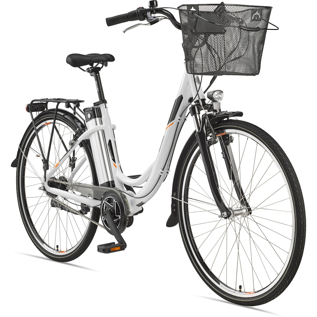 Telefunken E-Bike »Multitalent RC870«, 7 Gang, Shimano, Nexus, Mittelmotor 250 W, mit Fahrradkorb