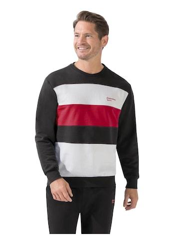 Catamaran Sweatshirt in sportiver Blockstreifen - Optik kaufen
