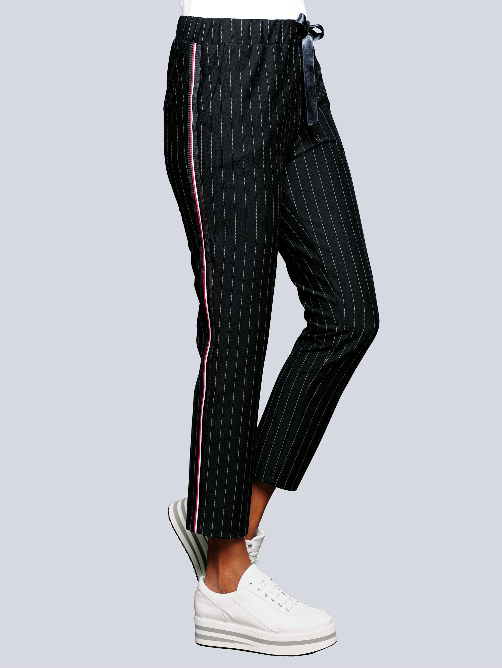 alba moda -  Hose in modischem Nadelstreifen Dessin