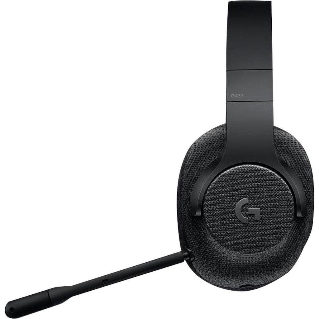 Logitech G Gaming-Headset »G433«, Mikrofon abnehmbar-Rauschunterdrückung
