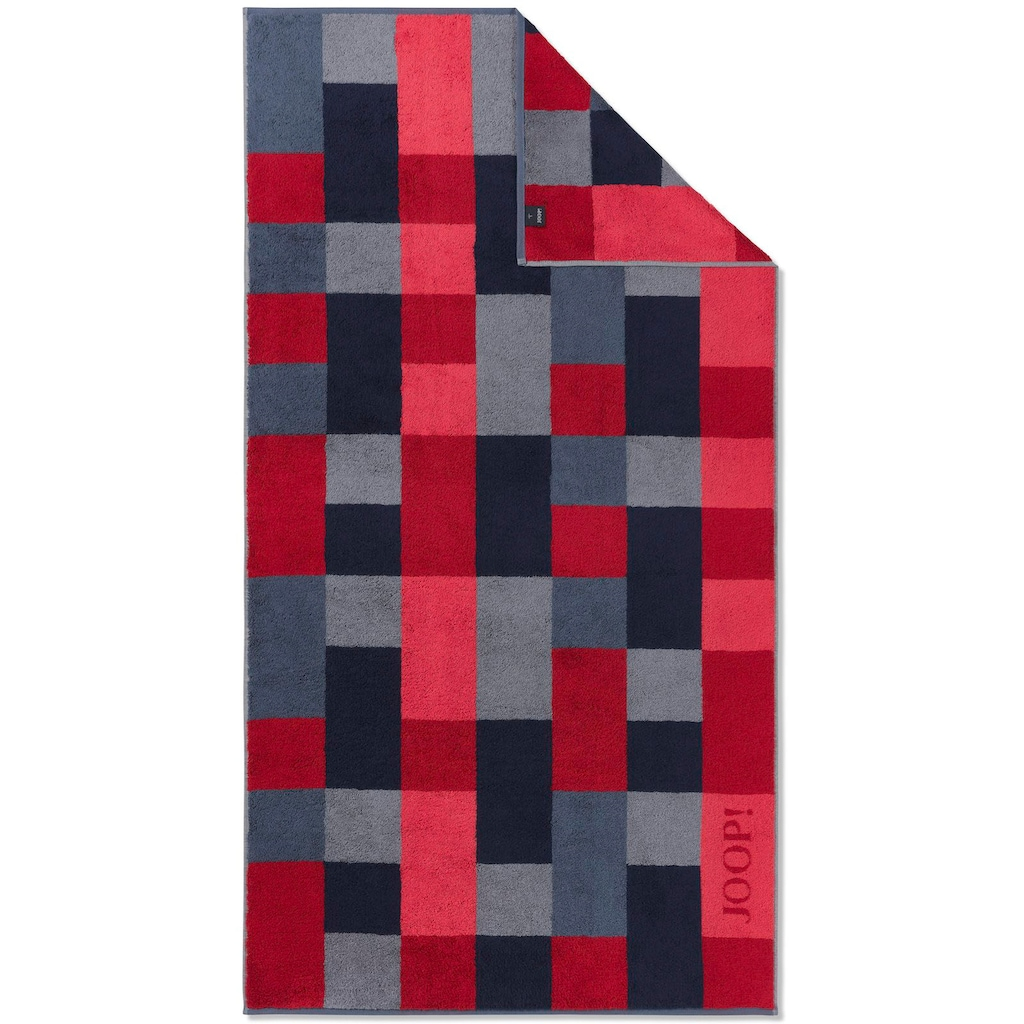 Joop! Badetuch »INFINITY Mosaic«, (1 St.), mit kontrastfarbenen Karos