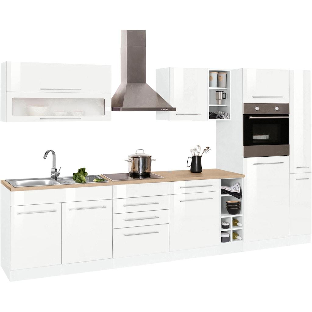 HELD MÖBEL Küchenzeile »Eton«, mit E-Geräten, Breite 330 cm