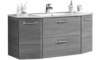 PELIPAL Waschtisch »Alika«, Breite 112 cm, Glasbecken, Metallgriffe, Türdämpfer kaufen