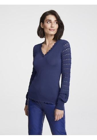 Pullover mit Lochstrick - Muster kaufen
