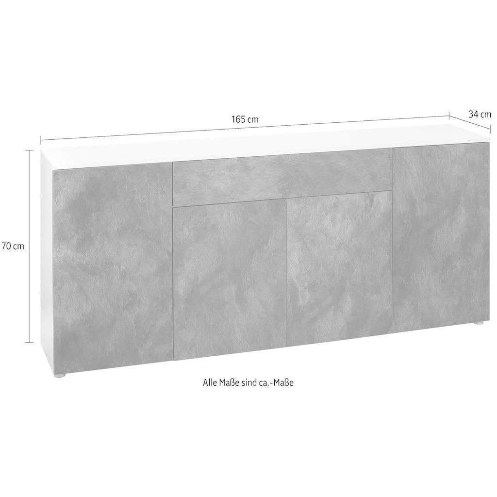 Sideboard »Susa«, Breite 165 cm, 4 Türen