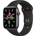 Apple Watch »SE GPS + Cellular, Aluminiumgehäuse mit Sportarmband 44mm« (, inkl. Ladestation (magnetisches Ladekabel)