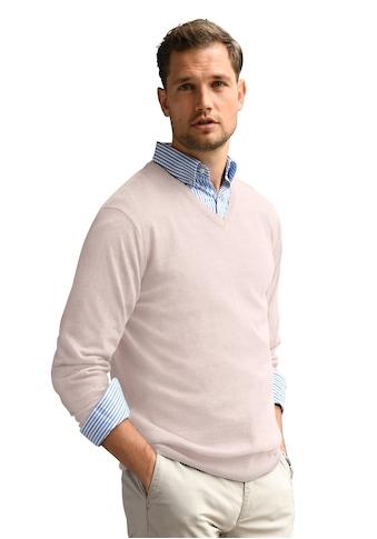 Louis Sayn V-Ausschnitt-Pullover »aus 100% Baumwolle Pima Cotton«, mit Rippbündchen kaufen