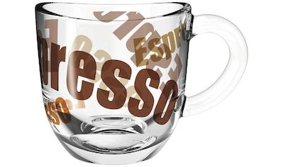 LEONARDO Espressotasse »NAPOLI«, (Set, 6 tlg.), 80 ml, 3-farbig kaufen