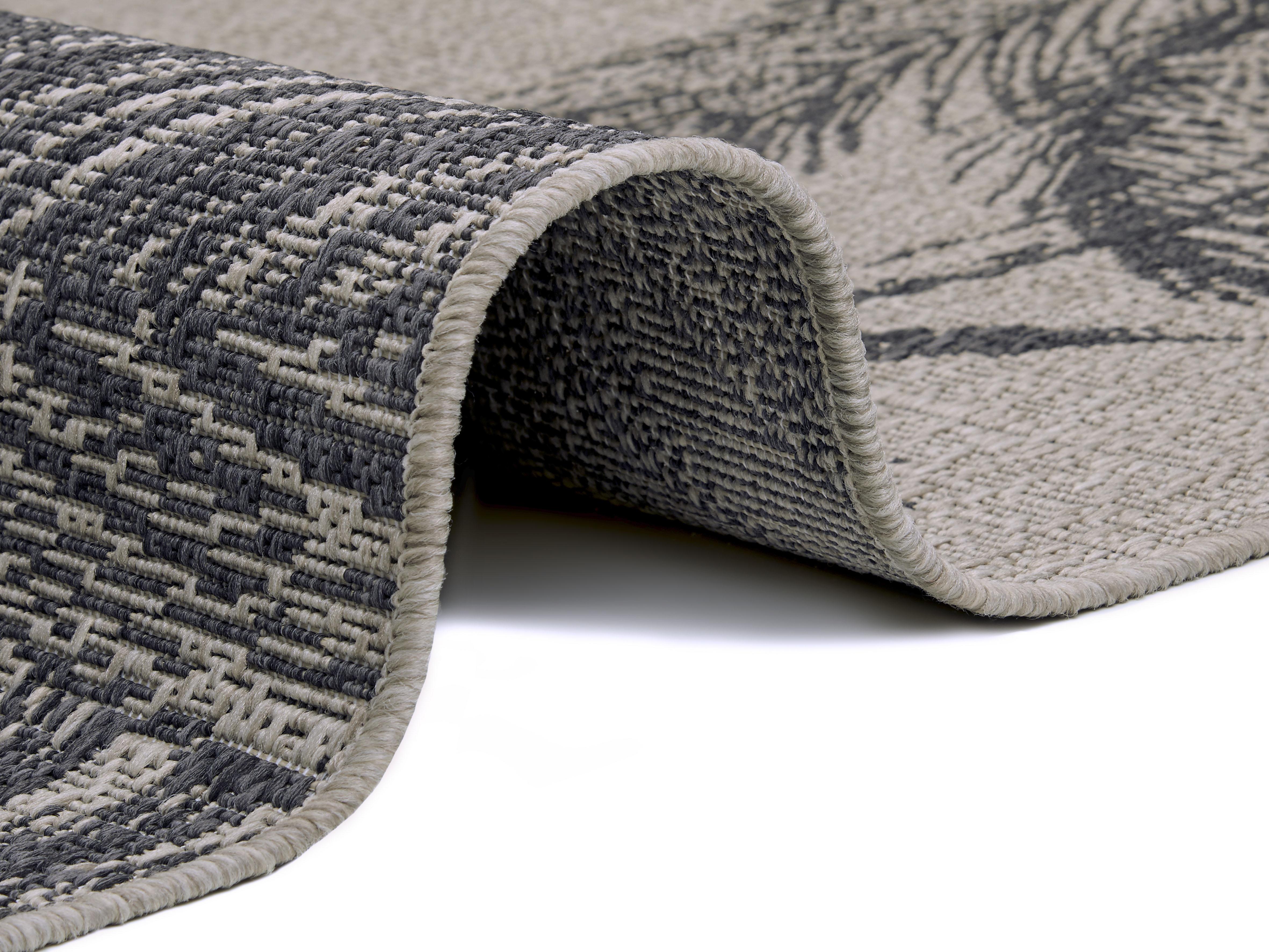 bougari Outdoorteppich Jaora, rechteckig, 3 mm Höhe grau Esszimmerteppiche Teppiche nach Räumen