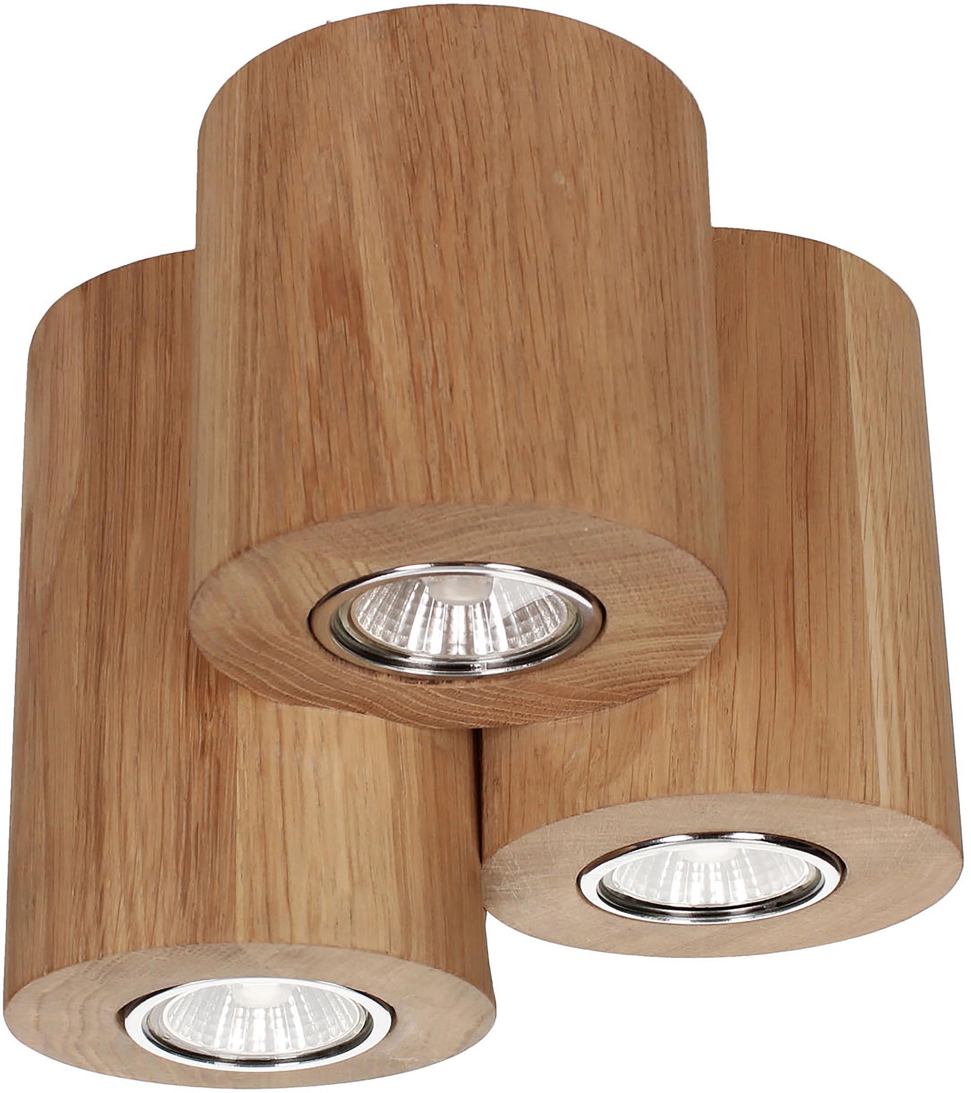 SPOT Light LED Deckenleuchte WOODDREAM, GU10, LED Deckenlampe