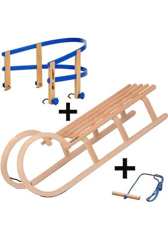 COLINT Hornschlitten »Hörner 110 mit Holz/Kunststofflehne und Leine« (Set, 3 - tlg.) kaufen