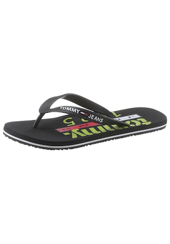 TOMMY JEANS Zehentrenner »TOMMY JEANS BEACH SANDAL PRINT« kaufen