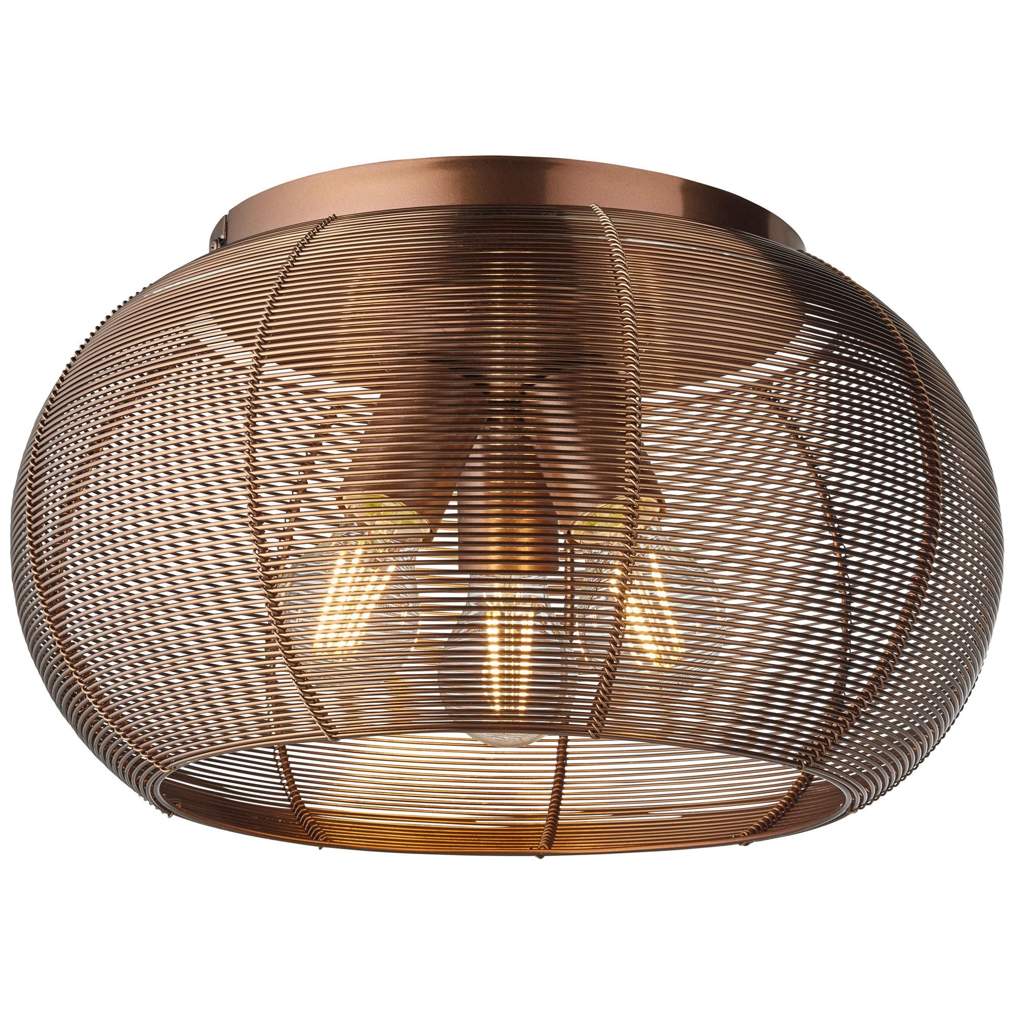 Brilliant Leuchten Sambo Deckenleuchte 40cm braun/Kaffee