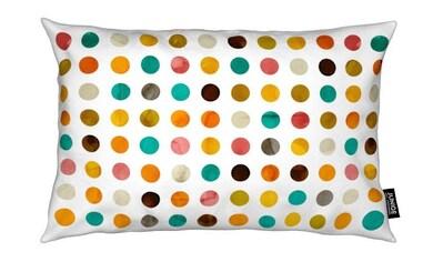 Juniqe Dekokissen »Autumnal Polka Dot«, Weiches, allergikerfreundliches Material kaufen