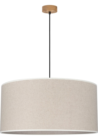 OTTO products Hängeleuchte »Emmo«, E27, Pendelleuchte mit hochwertigem Textilschirm Ø 50 cm, Baldachin aus Kiefernholz, Nachhaltig mit FSC®-Zertifikat, Made in Europe kaufen
