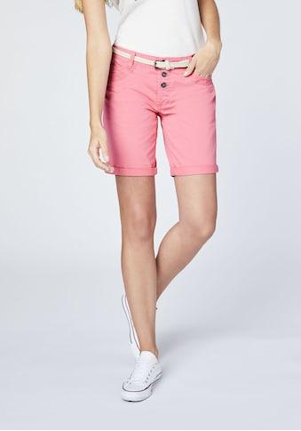 OKLAHOMA PREMIUM DENIM Chino Shorts »mit Gürtel« kaufen