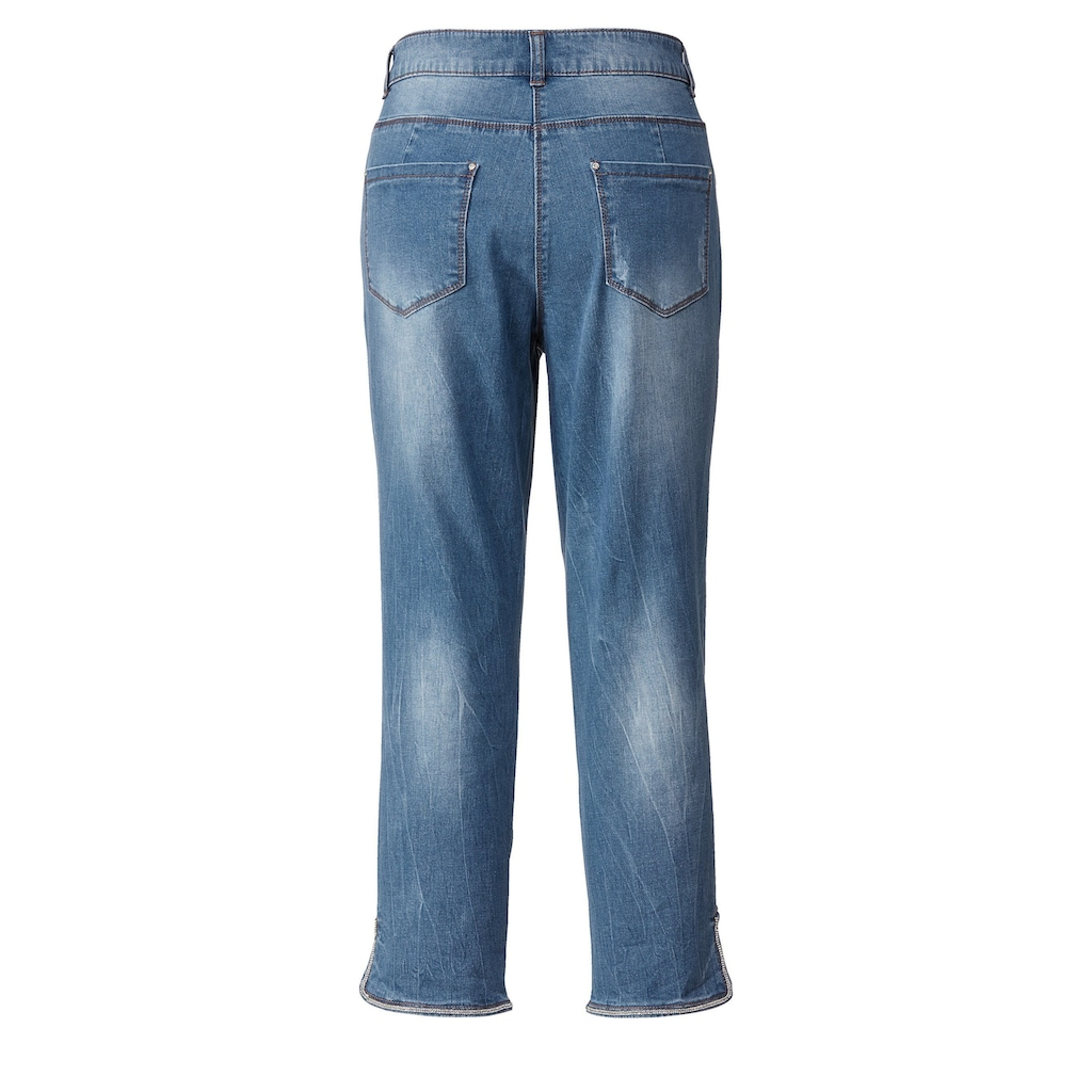 Sara Lindholm by Happy Size 7/8-Jeans mit Strass