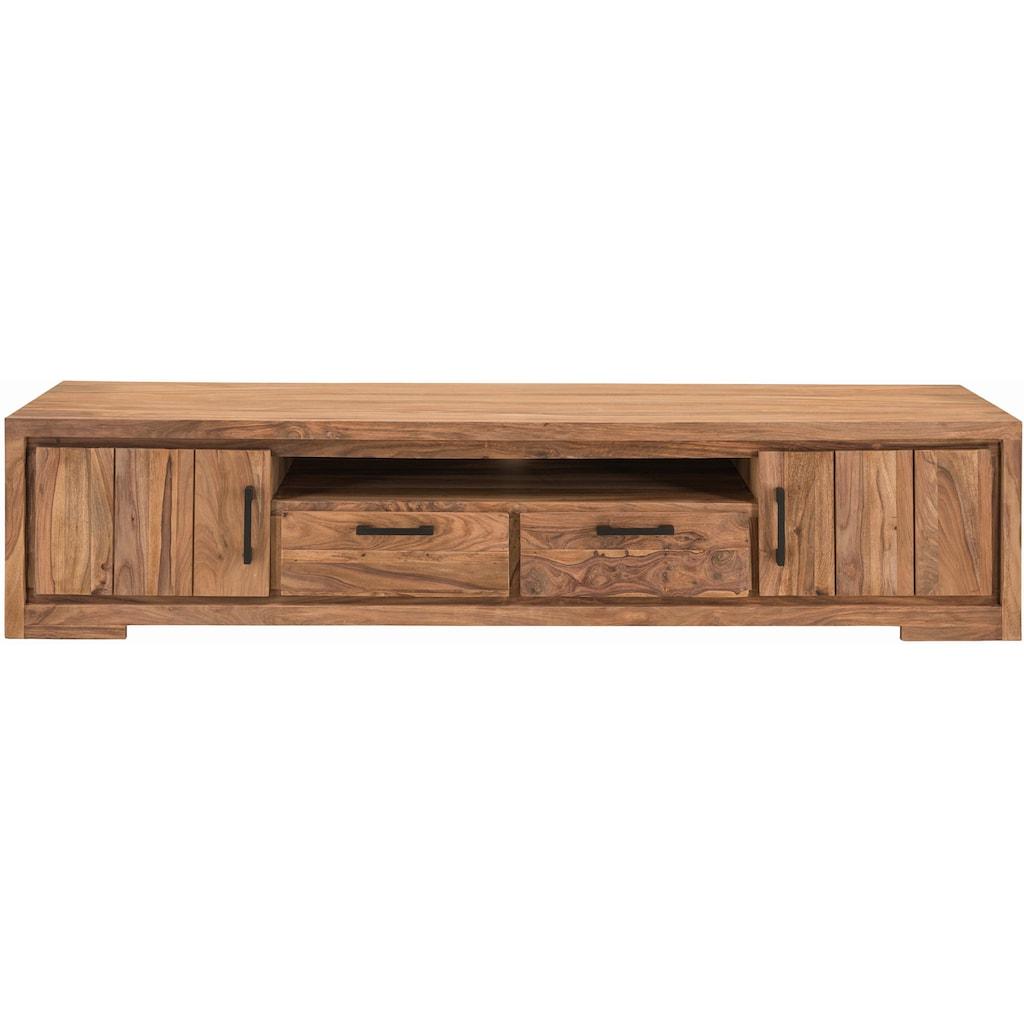 SIT Lowboard »Sanam«, aus Sheesham Holz mit schöner Struktur, Breite 205 cm