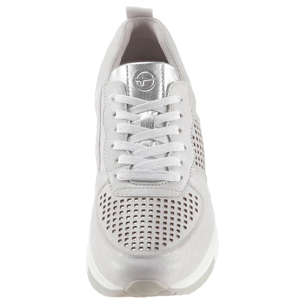 Tamaris Wedgesneaker »Pure Relax«, mit Metallic-Schimmer