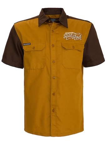 KingKerosin Kurzarmhemd »Hot Rod«, 2-farbig mit Stickereien kaufen