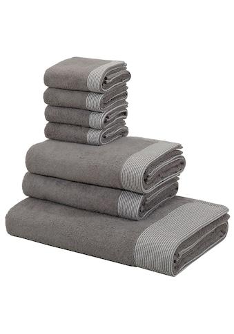 andas Handtuch Set »Greta«, mit fein gestreifter Bordüre kaufen