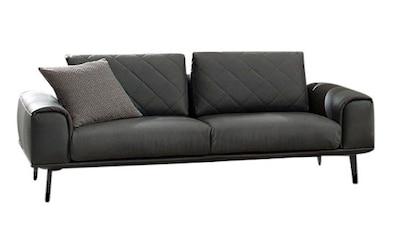 W.SCHILLIG 2-Sitzer »sam«, mit Diamant-Absteppungen, Metall-Winkelfüße Chrom glänzend,... kaufen