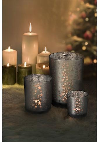 EDZARD Windlicht »Sterne«, Teelichthalter aus Glas mit Transparenz, Teelichtglas für... kaufen