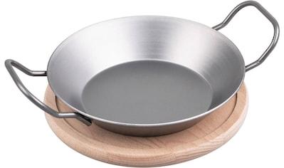 CHG Servierpfanne, Eisen, (1 tlg.), inkl. Servierbrett, Ø 20 cm kaufen