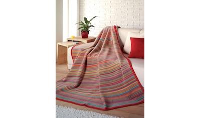 IBENA Wohndecke »Jacquard Decke Malang«, buntes Streifenmuster kaufen