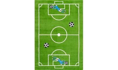 Sanat Kinderteppich »Bambino 2108«, rechteckig, 12 mm Höhe, Fußball Motiv, Kurzflor kaufen